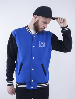 College Jacket Milk - Electro/Black