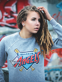 Свитшот Liberty - Anaheim Angels, Grey