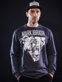 Свитшот Mark J.Brash - Bear, grey
