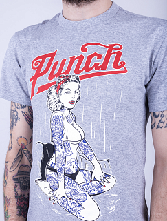 Футболка Punch - PinUp Girl, Grey
