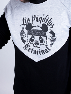 Свитшот Custom Wear - Los Panditos, Black/Grey