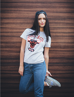 Футболка Liberty - Chicago Bulls, Wind City, Grey