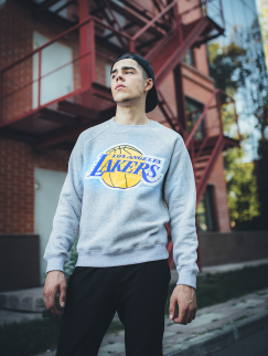 Свитшот Liberty - Los Angeles Lakers, Grey