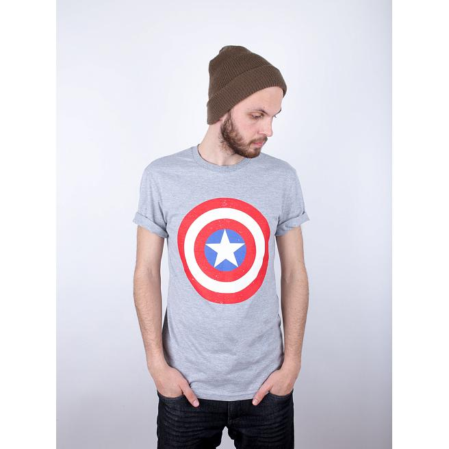 Футболка Liberty - Captain America shield, Grey