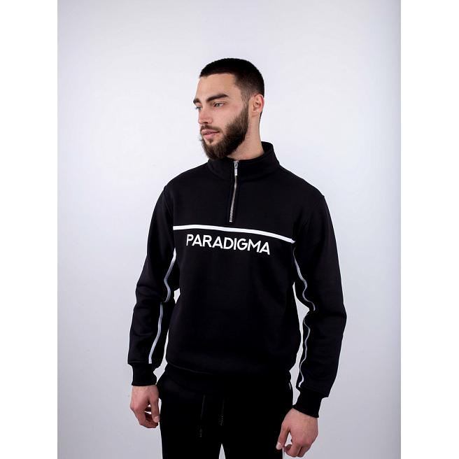 Свитшот утепленный Paradigma - Zip 1/4 Phosphorus Logo, Black
