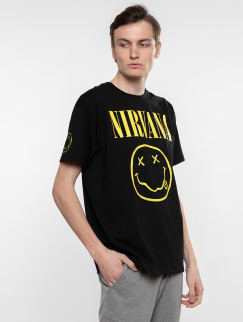 Футболка Merch - Nirvana, Smile, Black