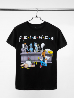 Футболка Urbanist - Friends Cartoons, Black