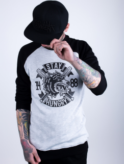 Свитшот Custom Wear - Stay hungry, Black/Grey