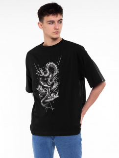 Футболка Mark J.Brash - Snakes oversize, Black