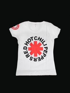Футболка женская Red Hot Chili Peppers, White