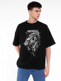 Футболка Mark J.Brash - Lion oversize, Black