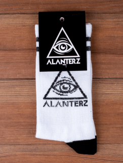 Носки Alanterz - Logo Japan, White