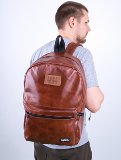 Рюкзак Iron City - Brown Classic Tag, leather