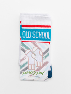 Носки Just Cover - Old School New, White