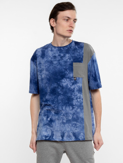 Футболка Mark J.Brash - Tiedye pocket, Blue